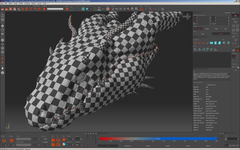 UV mapping Unfold3D VS