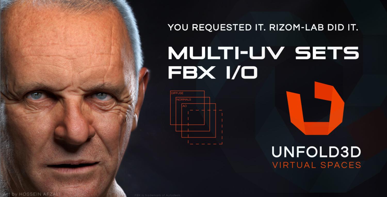 Multi-UV Sets FBX Unfold3D virtual space